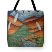 Rain Trail Tote Bag