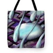 Life On Purple Plaid Tote Bag