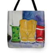Rainboots Tote Bag