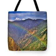 Rainbow Across Canyon Tote Bag