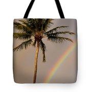 Rainbow And Palm Tree Tote Bag