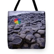 Rainbow At Giant's Causeway Tote Bag