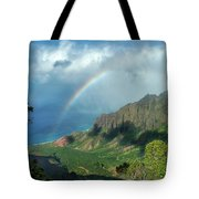 Rainbow At Kalalau Valley Tote Bag