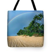 Rainbow At Pipeline, North Shore,  Tote Bag
