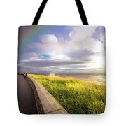 Rainbow At  Seaside Tote Bag