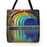Rainbow Bandshell And Swan Tote Bag