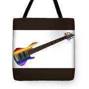 Rainbow Big Neck Bass Guitar Tote Bag