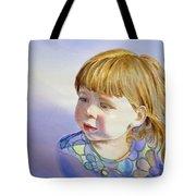 Rainbow Breeze Girl Portrait Tote Bag