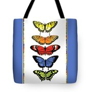 Rainbow Butterflies Tote Bag by Lucy Arnold