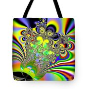 Rainbow Butterfly Bouquet Fractal Abstract Tote Bag