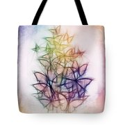 Rainbow Butterfly Flutterings Tote Bag