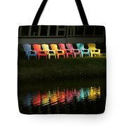 Rainbow Chairs  Tote Bag