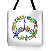 Rainbow Circle Tote Bag