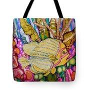 Rainbow-colored Sunfish Tote Bag