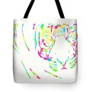 Rainbow Coloured Tiger Tote Bag
