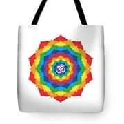 Rainbow - Crown Chakra  Tote Bag