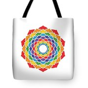 Rainbow - Crown Chakra - Pointillism Tote Bag