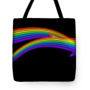 Rainbow Dolphin Tote Bag