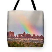 Rainbow Down Tote Bag