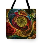 Rainbow Egg Formation Abstract Tote Bag