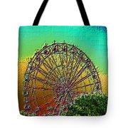 Rainbow Ferris Wheel Tote Bag