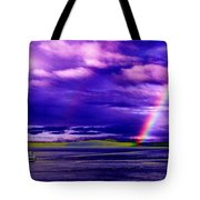 Rainbow Ferry Tote Bag