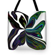 Rainbow Firefly Abstract Tote Bag