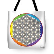 Rainbow Flower Of Life Bow Tote Bag