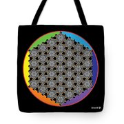 Rainbow Flower Of Life Wob Tote Bag