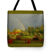 Rainbow From The Back Deck Tote Bag