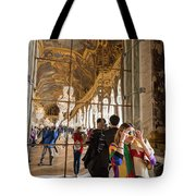 Rainbow Girl In The Hall Of Mirrors Tote Bag