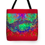 Rainbow Hammerhead Shark Tote Bag