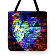Rainbow Heart On A Wall Tote Bag