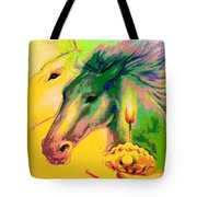 Rainbow Horses And The Pearl Of Light Tote Bag