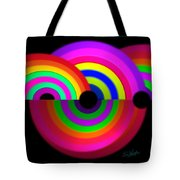 Rainbow In 3d Tote Bag