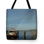 Rainbow In Apalachicola Fl Tote Bag