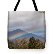Rainbow In Front Of Sharp Top Tote Bag
