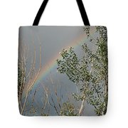 Rainbow In The Trees Tote Bag