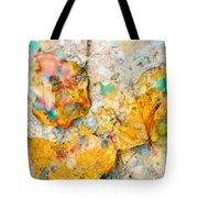 Rainbow Leaves Aqua Tote Bag