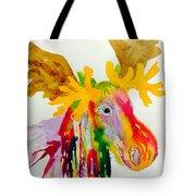 Rainbow Moose Head  - Abstract Tote Bag