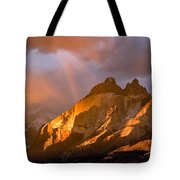 Rainbow Mountain In The Storm Tote Bag