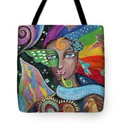 Rainbow Muse Tote Bag