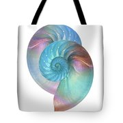 Rainbow Nautilus Pair On White Tote Bag