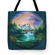 Rainbow In Mountains Tote Bag