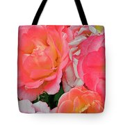 Rainbow Of Roses Tote Bag