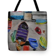 Rainbow On The Dock Tote Bag