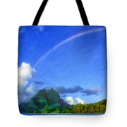 Rainbow Over Bora Bora Tote Bag