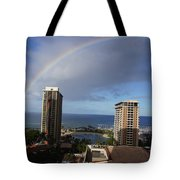 Rainbow Over Hilton Tote Bag