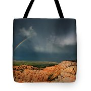Rainbow Over Hoodoos Bryce Canyon National Park Utah Tote Bag