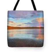 Rainbow Over Magalloway  Tote Bag